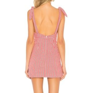 Privacy Please Dresses - Red Gingham Mini Dress